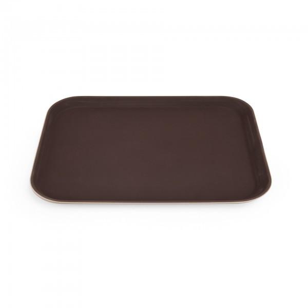 Tablett - Polypropylen - braun - mit rutschhemmender Oberfläche