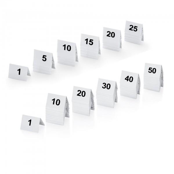 Tischnummernschild - Kunststoff - beidseitig bedruckt