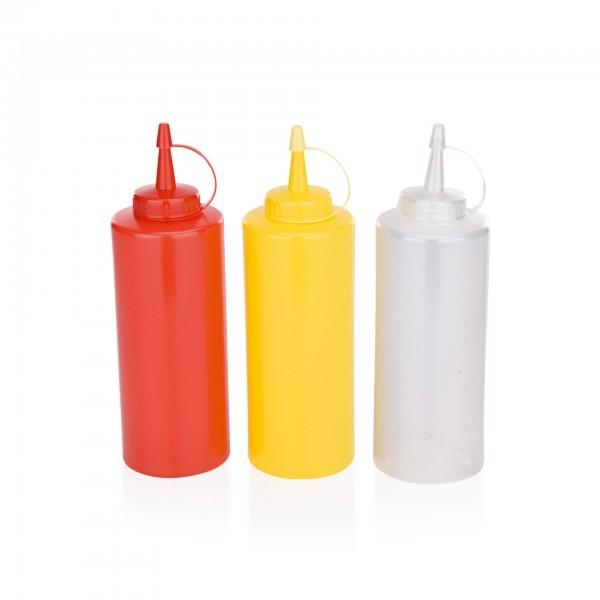Quetschflasche - Polyethylen - versch. Farben - mit Schraubdeckel und Verschlusskappe