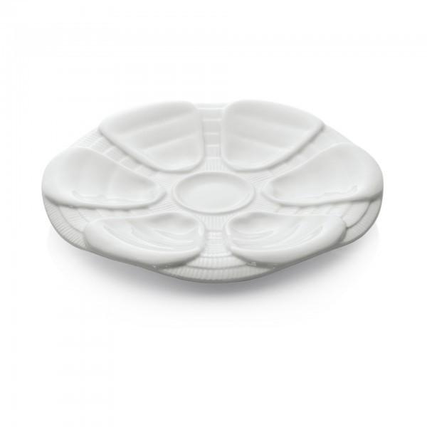 Austernteller - Porzellan - für 6 Austern