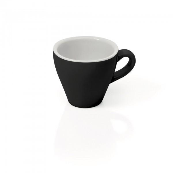 Espresso-Tasse - Porzellan - schwarz - Serie Italia Black - 4998.009