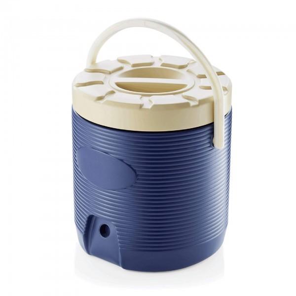 Thermospeisetransportbehälter - Kunststoff - blau - Schraubdeckel - extra preiswert - 3753.181