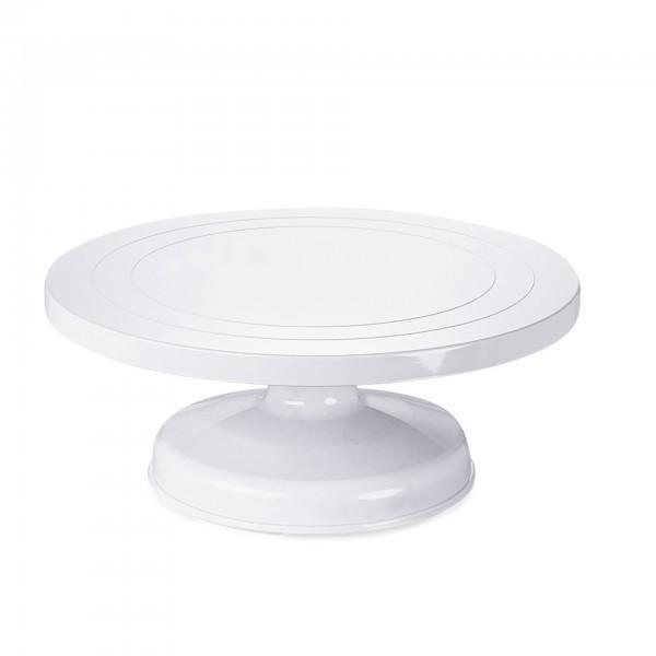 Tortenplatte - Kunststoff - rund - auf Fuß