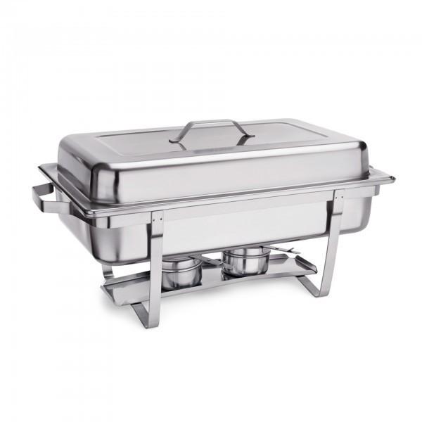 Chafing Dish - Chromnickelstahl - mit 2 Brennpastenbehältern - extra preiswert