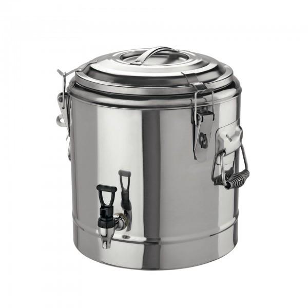 Thermogetränkebehälter - Chromnickelstahl - rund