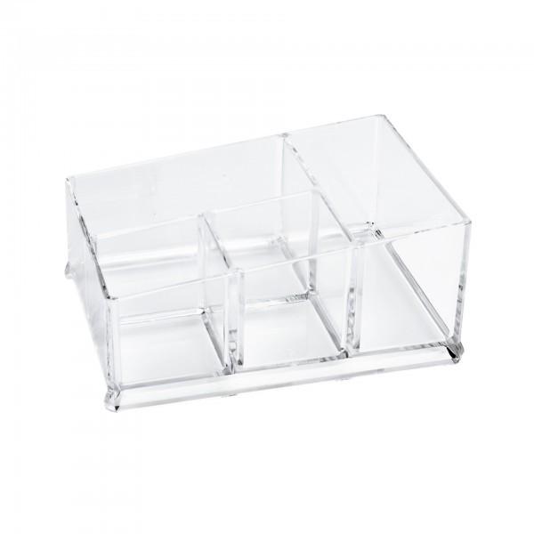 Box - Acryl - transparent - mit 4 Einteilungen