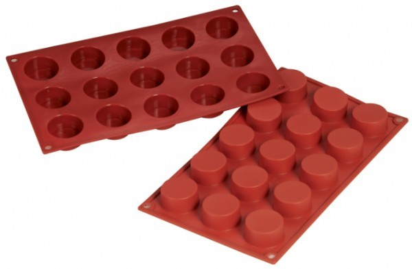 Silikon-Backform, Petit-Fours, 15 Formen - 4,0x2,0 cm