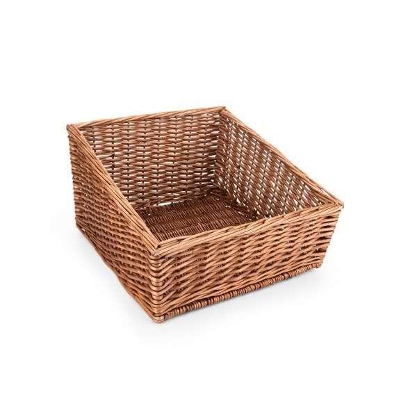 Buffetkorb - Serie Wood - Vollweide - braun - quadratisch - gesotten