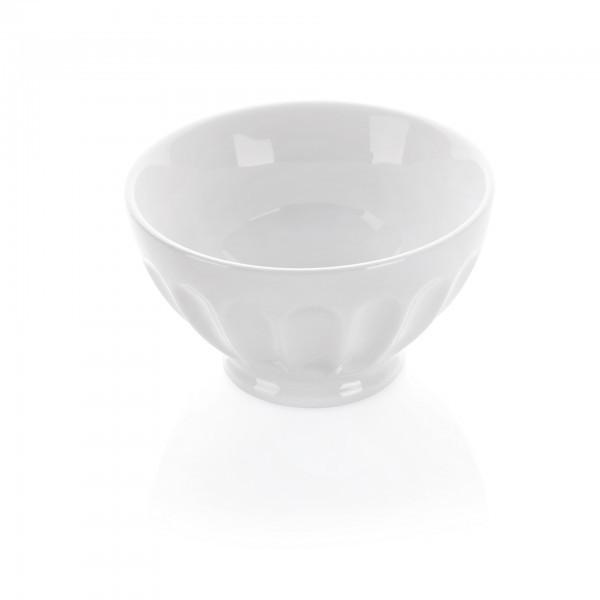 Schale - Porzellan - weiß - rund