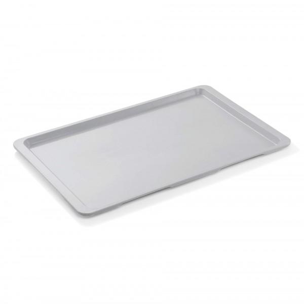 Euronorm-Tablett - Serie 9605 - Polyester - lichtgrau - Stapelnocken - 9605.531