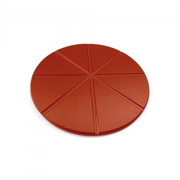 Pizzaschneidbrett - Polyethylen - rund - für 8 Pizzastücke