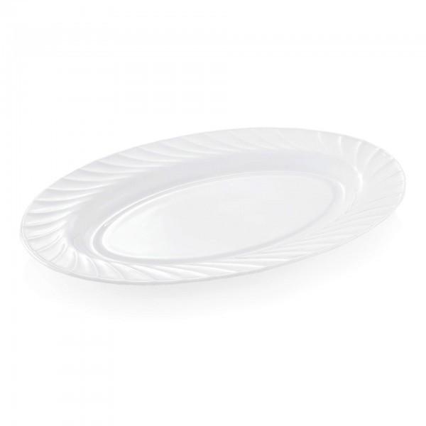 Servierplatte - Serie Wave - Opalglas - glatte Form - 9272.350