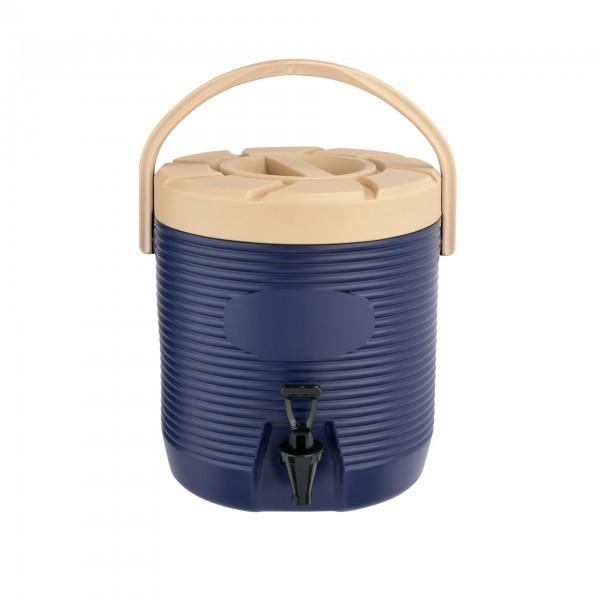 Thermogetränkebehälter - Kunststoff - blau - mit Schraubdeckel und Tragegriff - extra preiswert