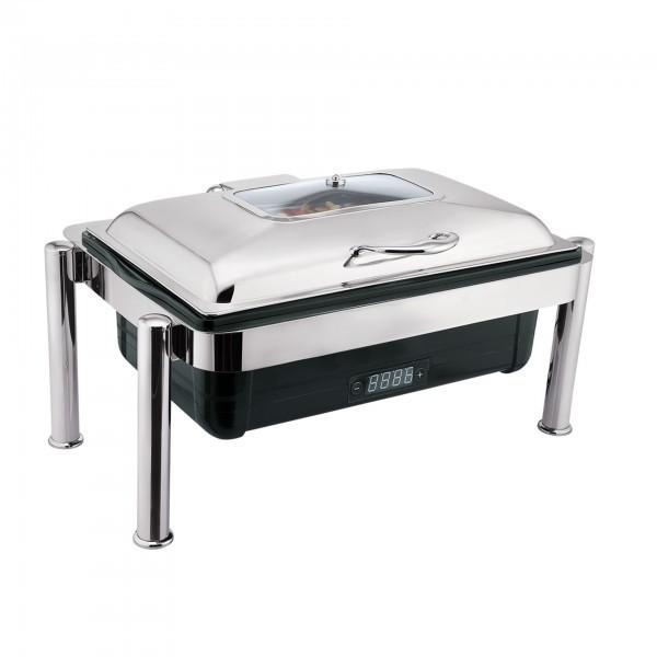 Elektro Chafing Dish - Kunststoff / Edelstahl - Edelstahlklappdeckel mit Sichtfenster - premium Qualität