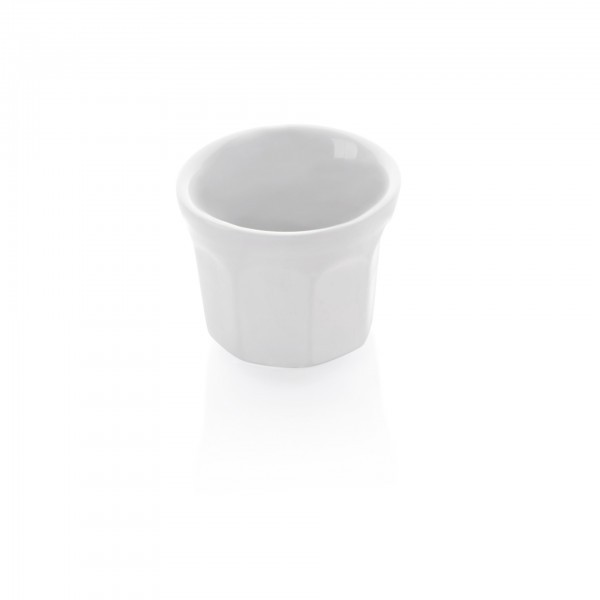 Mini-Topf - Porzellan - weiß - rund