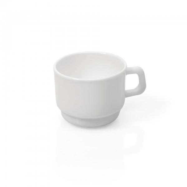 Obertasse - Serie Uni - Opalglas - glatte Form