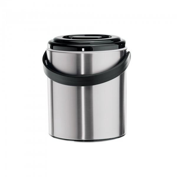 Eiseimer - Edelstahl - mit perforiertem Einsatz und Kunststoffzange - extra preiswert
