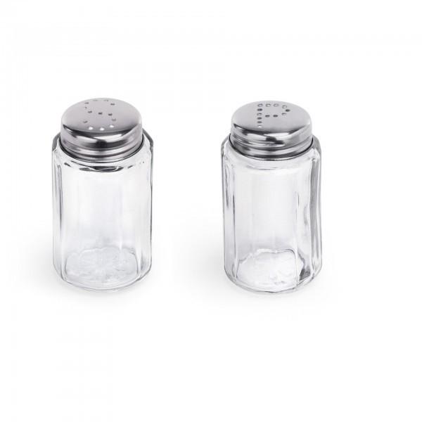 Streuer - Salz / Pfeffer - Glas - gerade Form