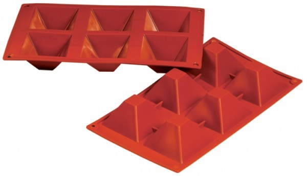 Silikon-Backform, Pyramide, 6 oder 15 Formen