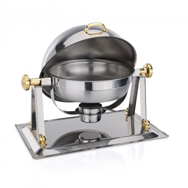 Chafing Dish - Chromnickelstahl - rund - mit Brennpastenbehälter