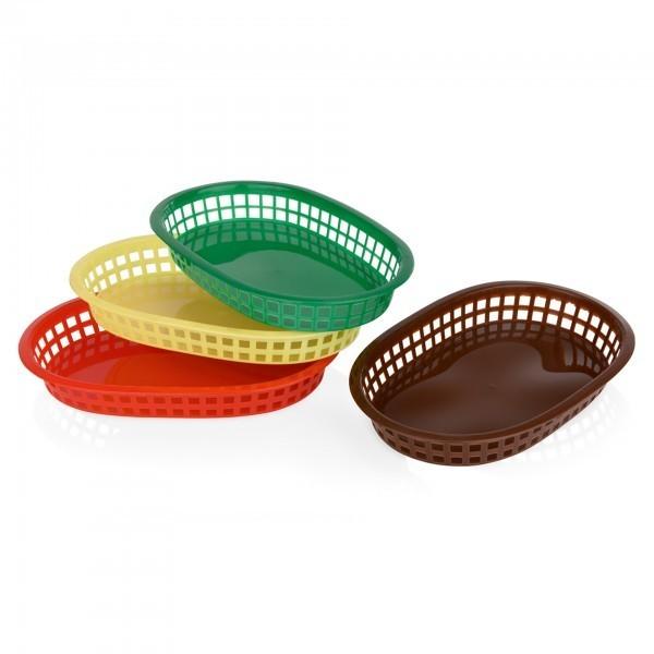 Tischkorb - Kunststoff - versch. Farben - oval - extra preiswert