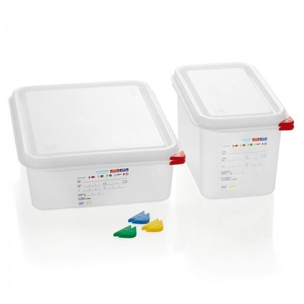 GN-Behälter - inkl. Deckel und Farbclips