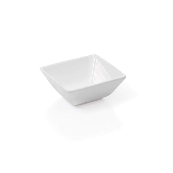 Mini-Schälchen - Porzellan - eckig