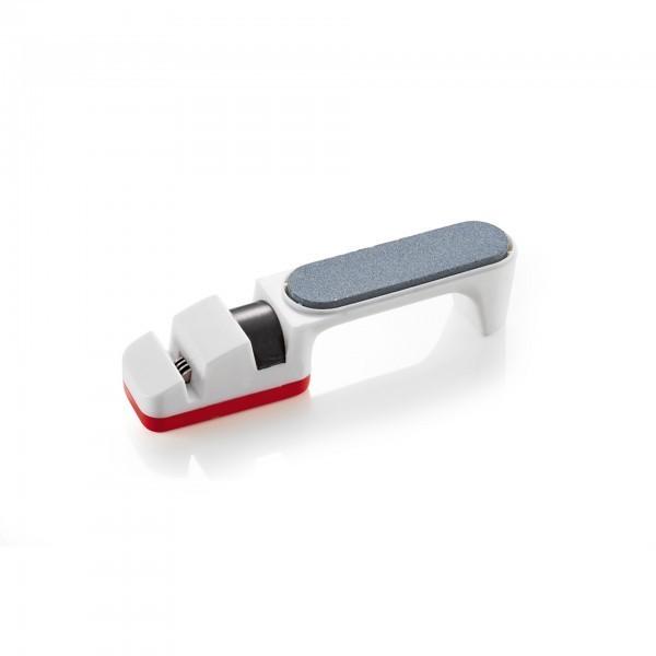 Messerschärfer - Kunststoff - mit Messerschärfer und Schleifstein