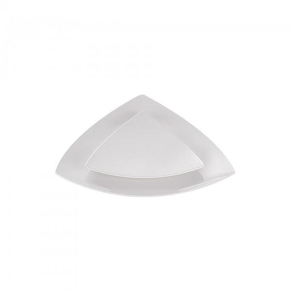 Servierplatte - Melamin - dreieckig - gebogen