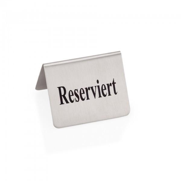 Reserviertschild - Edelstahl