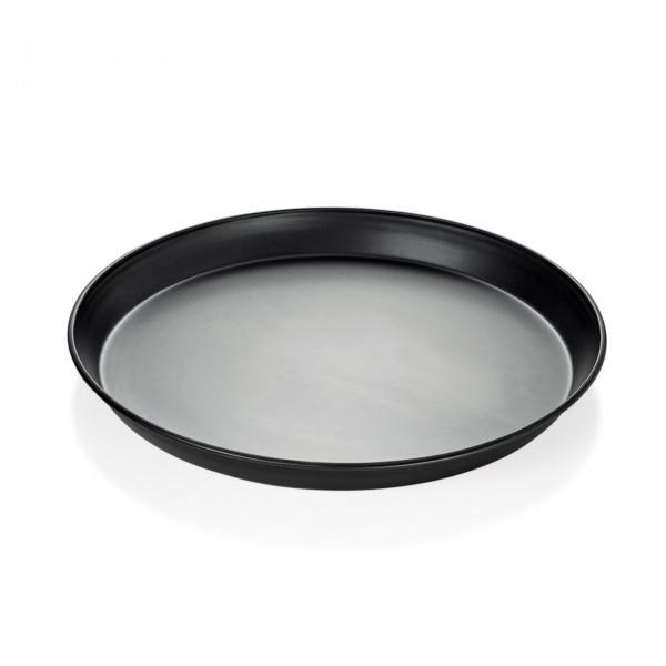 Pizzablech - Blaublech - rund - mit bordiertem Rand - 2290.200