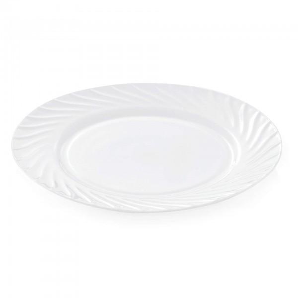 Teller - Serie Wave - Opalglas - flache Ausführung - 9270.200