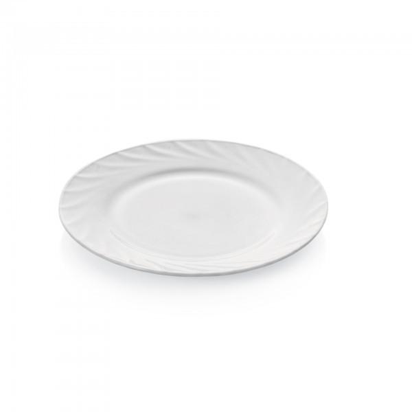 Teller - Serie Wave - Opalglas - flache Ausführung