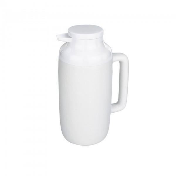 Isolierkanne - Kunststoff - weiß - mit PU-Isolierung
