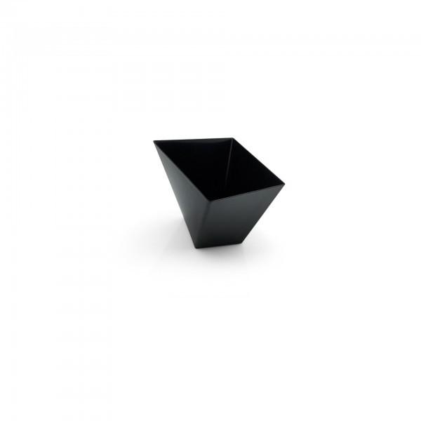 Petit-Becher - Polystyrol - schwarz - schräg - 50 Stück - extra preiswert