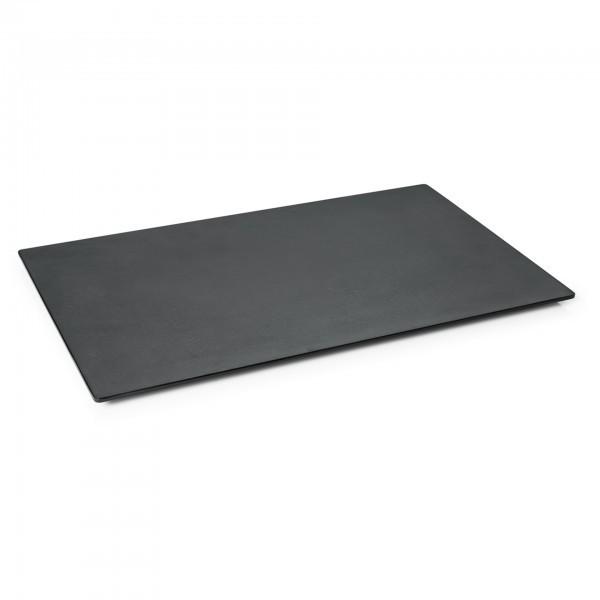 GN-Buffetplatte - Melamin - schwarz - rechteckig