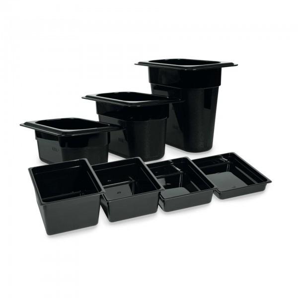 GN-Behälter - Polycarbonat - schwarz