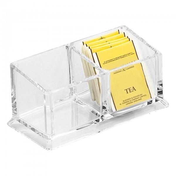 Box - Acryl - transparent - mit 2 Einteilungen