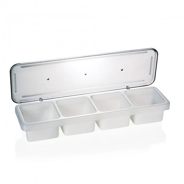 Zutatenbehälter - Polypropylen - 4 Einsätze je 0,6 ltr. - extra preiswert