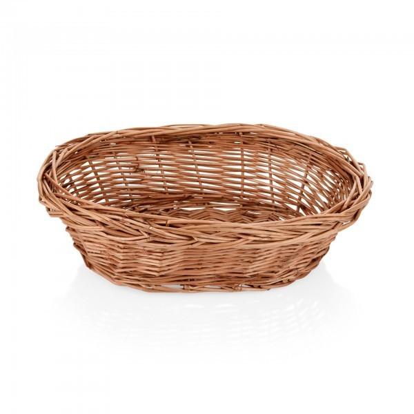 Buffetkorb - Serie Wood - Vollweide - braun - oval - gesotten